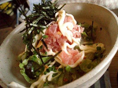 ネギトロ丼@日替わりランチ(omo茶や。)