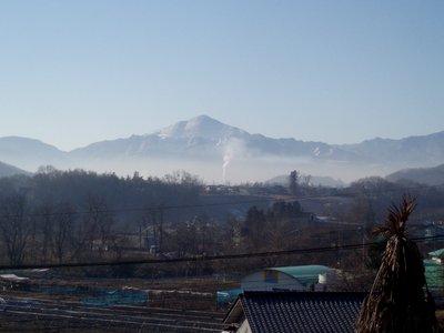 武甲山も冬化粧@皆野