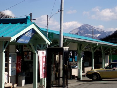 秩父鉄道三峰口と武甲山