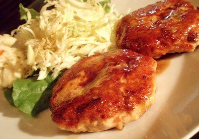 鶏肉と豆腐のハンバーグ