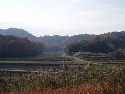 秋深い里の風景@小川町