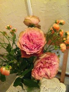 尊敬するお客様からいただいたお花