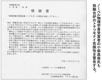 blog 広瀬隆「核融合」33