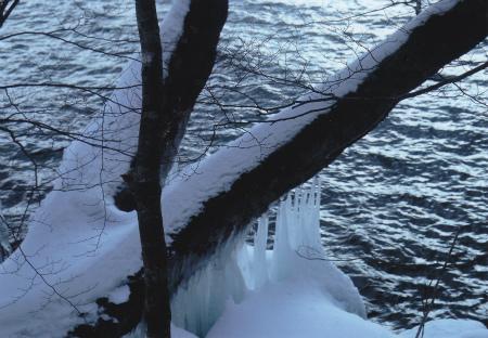 ブログ十和田湖しぶき氷2