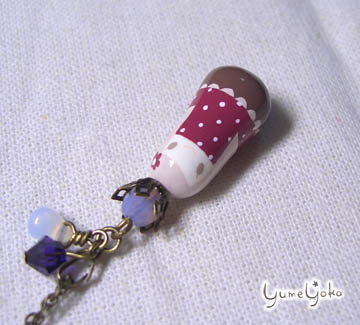 紫ワンピのお嬢さん