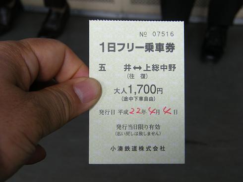 小湊鉄道1日乗車券