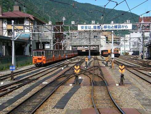 宇奈月駅構内