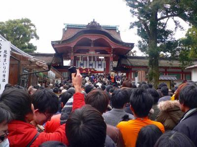写真キャプション=今年はひょんなきっかけで、Y嬢のお母さんと初詣に行ってきた枚方の岩清水八幡宮