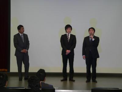 写真キャプション=「フォロー勉強会」で紹介された「玉三郎亘理店」と「玉三郎黒崎店」の店長