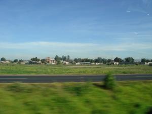 メキシコシティ郊外畑