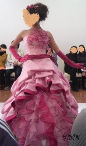 春夏ピンクドレス1