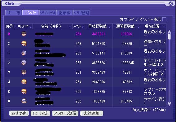 クラメン表(In率)モザイク