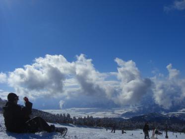 SKIJAMスキージャム勝山の景色