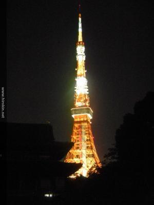 増上寺から東京タワー