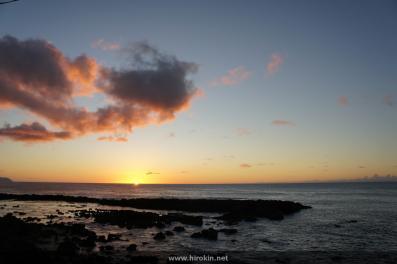 とある場所の夕日