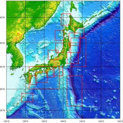 海上保安庁作製の海底地形図
