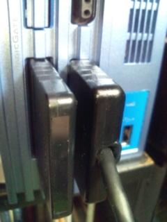 交換品の中古PS2メモリーカードを挿してみた