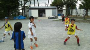 2011年7月24日すすき野中サッカーチームとの合同練習