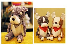 ダントツ1番人気!『セミオーダーぬいぐるみ』 愛犬に似た感じの色柄で作ってもらえます。