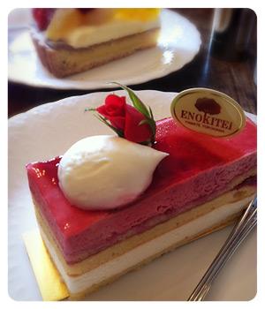 横浜山手えのきてい薔薇のケーキ