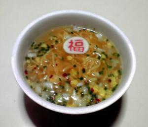 百福長寿麺 鶏だし塩ラーメン(できあがり)
