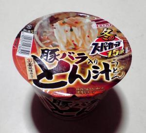 冬のスーパーカップ1.5倍 とん汁うどん(ふた)