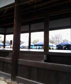 雪の中、、、、