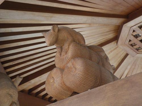 ねずみ木彫り