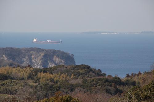 三浦半島が見える