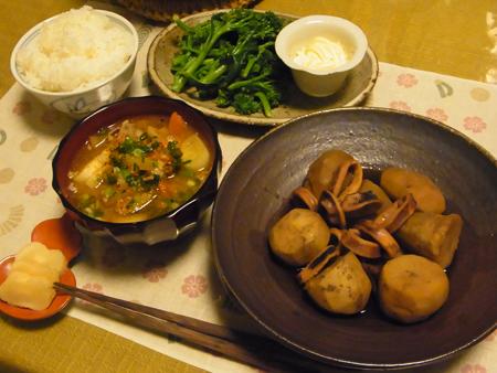 3いかと里芋の煮物・豚汁定食