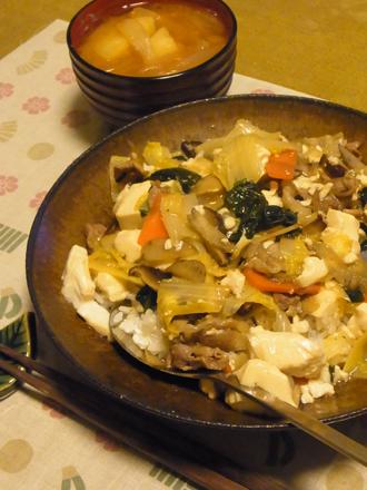 7具沢山あんかけ豆腐丼