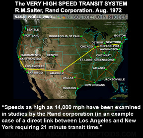 全米のチューブシャトルのネットワーク