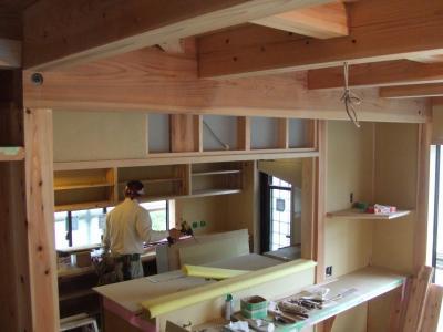 キッチン廻り造作2