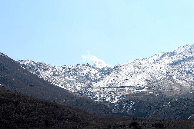 雪化粧の星生山(ほっしょうざん)