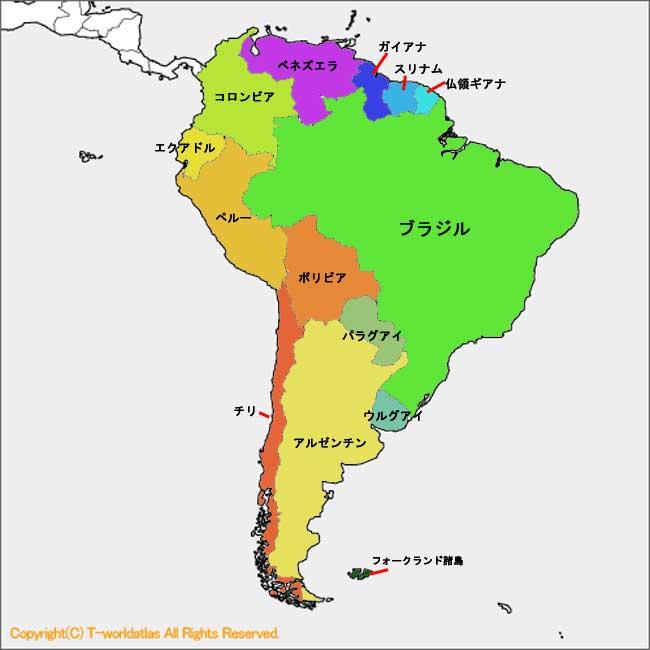 世界地図・南米 | 荒谷のロー ...