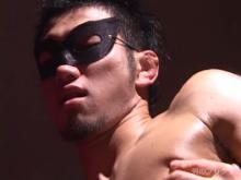ゲイ動画:顔出しNG!! 驚異の超剛エロ筋性処理部屋 !!