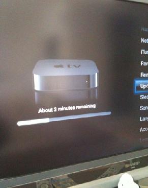Apple TVアップデート中