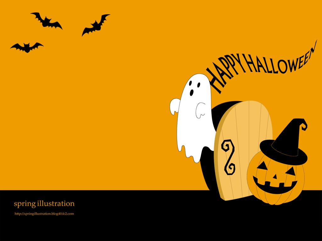 Happy Halloween ハロウィンのイラスト壁紙 Spring Illustration シンプルでかわいいイラストのスマホ壁紙 スマホ待ち受け