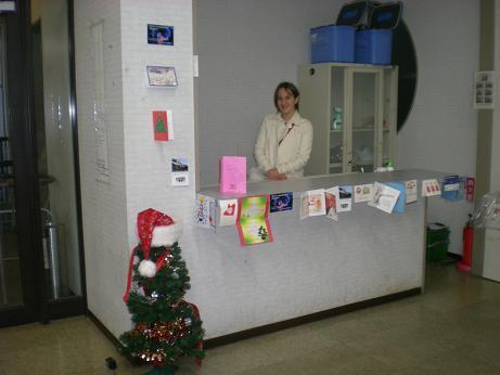 留学生会館に掲示した「クリスマスカード」