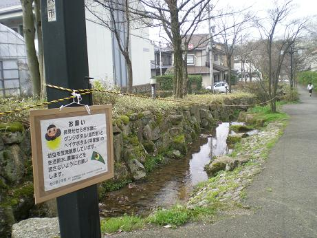 管理と監視のせせらぎ用水