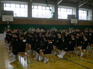 杜の里小学校の入学式