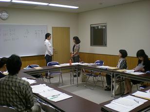 講師・金さんと対面による挨拶と自己紹介