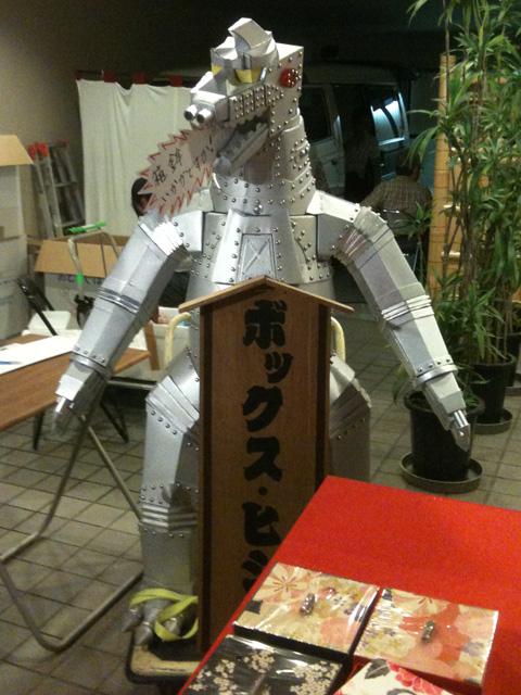 京都祇園祭で見つけた巨大メカゴジラ
