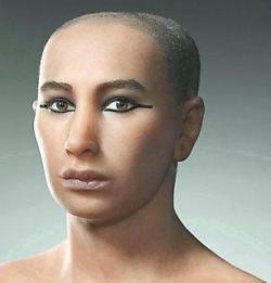 ツタンカーメンの顔復元図 ロイターより