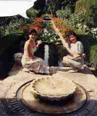 フェネラリーフェの中庭 お姉ちゃんと