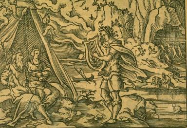 冥界王ハデスと取引し亡き妻のエウリディケを連れだしたオルフェウス