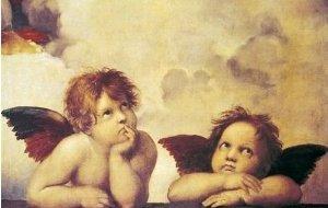 ラファエロの 考える天使
