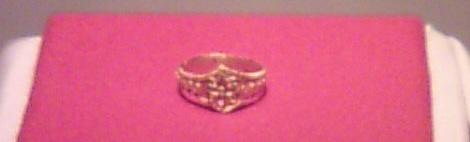海のシルクロード展 新羅時代の指輪 宗像大社宝物殿 美雨撮影