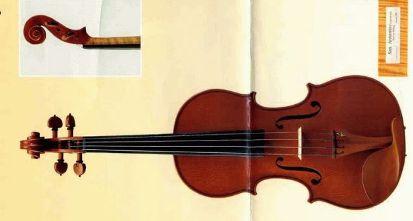 一枚板のレッドヴァイオリン