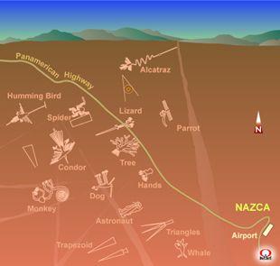 ナスカ 地上絵配置図